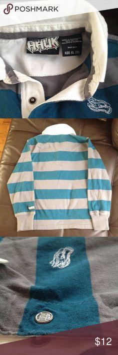 NWOT Collard rugby, stripped shirt Hawk. XL (7x) NWOT collar rugby, stripped shirt Hawk XL (7X) Hawke & Co Shirts & Tops Polos