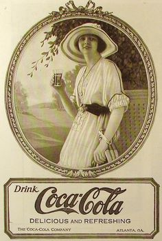 real pictures of people drinking coca cola   Vintage Coca-Cola Adverts