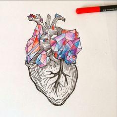 Heart by Waldesca Tattoo instagram.com/waldescatattoo