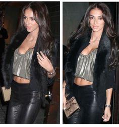 Leather trousers, fur and balenciaga