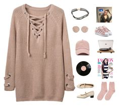 """""""GONNA LOVE MYSELF NO I DON'T NEED ANYBODY ELSE"""" by lonelyhearts-clubb ❤ liked on Polyvore featuring WithChic, Crosley Radio & Furniture, Forever 21, adidas Originals, Gucci, American Apparel, nataliesimplesetss and tbotss"""