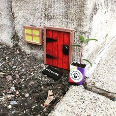 Dangerous Man - The welcoming folks at @dangerousman left Mows a welcome gift. Can you say Peanut Butter Porter?  .  .  #art #arte #arts #artwork #doors #cute #graffiti #streetart #streetarteverywhere #tv_streetart #instaart #picoftheday #photooftheday #miniature #gerous #sculpture #fairydoor #minneapolis #twincities #onlyinmn #neminneapolis #beer #craftbeer