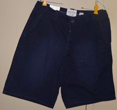 Aeropostale A 87 Flat Front Men Size 32 Solid Navy Blue Shorts New NWT #Aropostale #CasualShorts