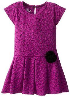 Pippa & Julie Little Girls' Floral Knit Dress, Fuchsia/Black, 6 Thanksgiving Outfit, Everyday Dresses, Toddler Dress, Kind Mode, Girls Dresses, Pink Dresses, Pink Girl, Knit Dress, Kids Fashion