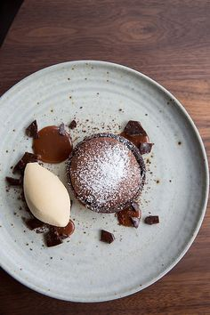 Pastry Chef Sarah Bonar of Frances and Octavia - San Francisco, CA Warm Chocolate Soufflé Tart, Cocoa Nib Brittle, and Salted Caramel Ice Cream http://www.starchefs.com/cook/photos/pastry-chef-sarah-bonar-frances-and-octavia-san-francisco-ca