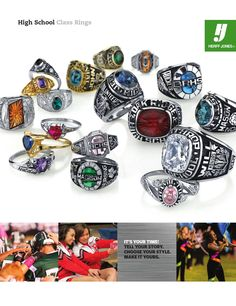 Herff Jones High School Class Ring catalog -- check out all the awesome options to create a ring that reflects YOU.