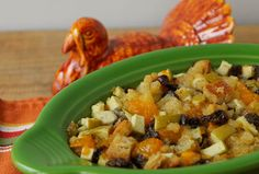An easy Fruit Stuffing for turkey, duck, goose, or to serve with pork or chicken | The Culinary Cellar