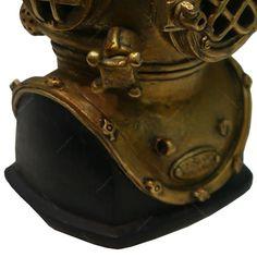 Cofre Miniatura De Escafandro Em Resina - 13x10 Cm - Submarino  - R$ 38,10