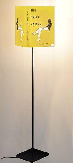 Abat-Book floor lamp with photographic by ArtFrigo on Etsy