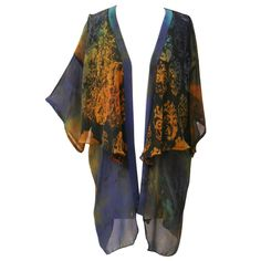 Scarf Jacket in Dying Embers Liberty, Kimono Top, London, Jackets, Tops, Women, Fashion, Down Jackets, Political Freedom