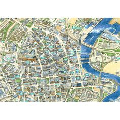 JIGRAPHY CITYSCAPES BELFAST 100 PIECE | Map Jigsaws | The Happy Puzzle Company