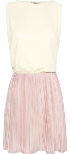Mango pastel yellow and pink pleated dress, perfect sorbet  prettiness!!! Simple but stunning:-)