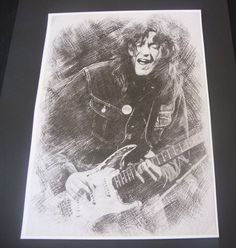 Rory Gallagher Poster Sketch Drawing Print New A3 Size