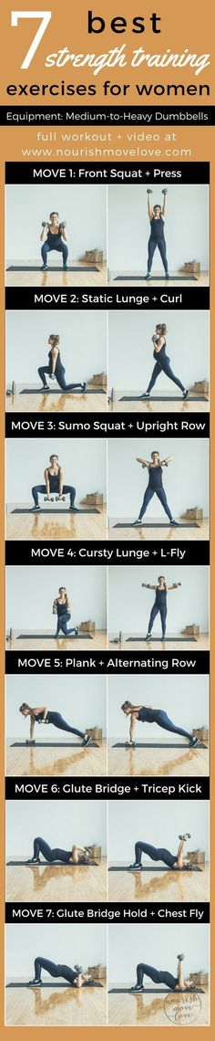 7 Best Strength Training Exercises for Women | www.nourishmovelove.com