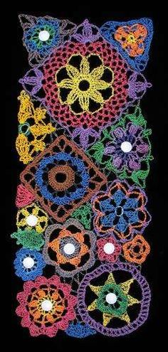This is a 2011 crochet flower piece called What Can I Say? made from recycled telephone wire and other recycled wire.