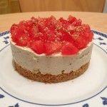 Cheesecake salato di tofu alle olive