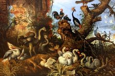 Roelandt Savery. Landscape with Birds. 1622. detail