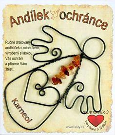 Drátěný anděl s Karneolem Carnelian, Horoscope