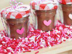 Homemade Valentines Day Gifts in a Jar - Mason Jar Candles - DIY Valentines Day Ideas