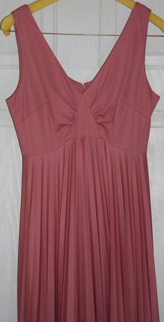 Vintage Rose colored full length dress by FiddlerFinds on Etsy