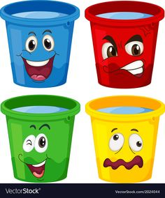 Buy Buckets with faces by interactimages on GraphicRiver. Illustration of the buckets with faces on a white background Autism Learning, Toddler Learning Activities, Preschool Activities, Cute Baby Cartoon, Preschool Classroom Decor, Crying Emoji, Puzzles For Toddlers, Ramadan Decorations, School Posters