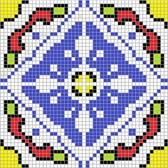 Cross stitch Mexican tile