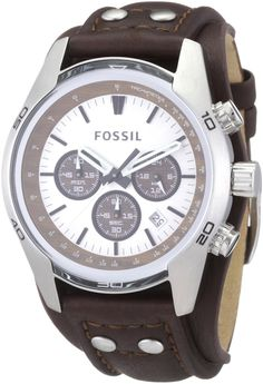 Fossil Men s Cuff Chronograph Tan Leather Watch Fashion Watches a17b0c1931