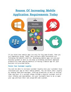 Reason of increasing mobile application requirements today