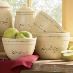 Set of 3 Inspirations Mixing Bowls from Through the Country Door®