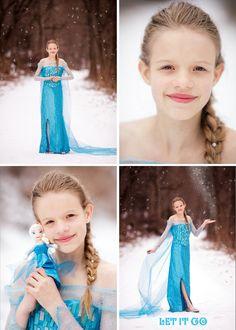 Ellie as #Elsa #girl #winter #snow #Frozen #Disney #portrait #theme #thematic #costume #forest #KristinSmallPhotography #doll #magic #glitter #ClaremontNH