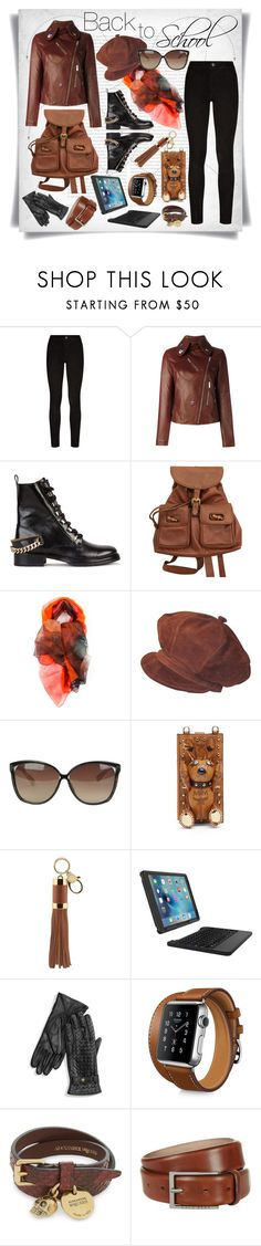 """""""Back To School."""" by imbeauty ❤ liked on Polyvore featuring Oris, Paige Denim, Christopher Kane, Lanvin, Gucci, Ermanno Gallamini, Linda Farrow, MCM, Rebecca Minkoff and ZAGG"""