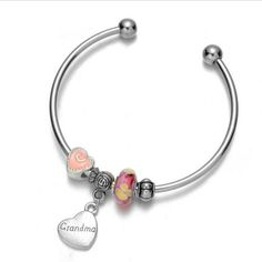 Sterling Silver 7 4.5mm Charm Bracelet With Attached 3D Fairy Godmother Fantasy Charm