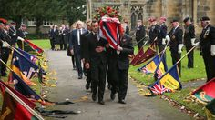 Hundreds of strangers have turned out for the funerel of a World War Two veteran who died without any family members.  Following a social media appeal about 200 people turned out for the funeral of Richard 'Dick' Norris, filling All Saints Parish Church in Driffield, East Yorkshire on Monday.  Mr Norris, who fought in the famous Battle of El Alamein, died at the age of 97 two weeks ago. His wife Sybil had died several years earlier.  His funeral was expected to be a small affair, but ...