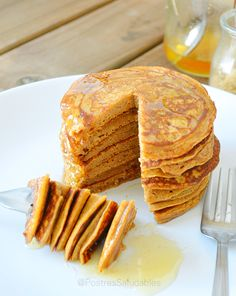 Postres Saludables | Pancakes de Boniato saludables | http://www.postressaludables.com