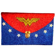 Sparkly Superhero Glitter Clutch Purse!  10 OFF with CODE  SPARKLE10 www. glittershoeco. 95236bda2