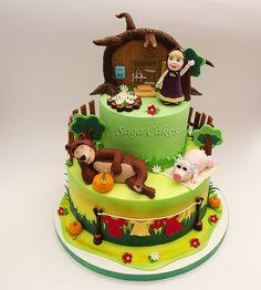 Masha and the bear/ Masa i medved https://www.facebook.com/saga.cakes