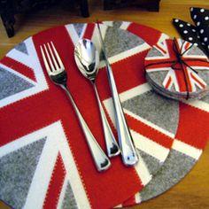 Union Jack felt placemats | Fresh Design Blog