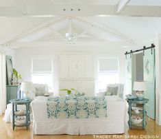 Living Room – House of Turquoise Beach Cottage Style, Beach Cottage Decor, Coastal Cottage, Coastal Style, Cottage Living, House Of Turquoise, Cottage Design, House Design, Coastal Living Rooms