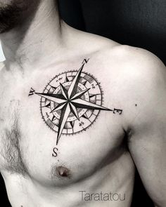 125 Best Compass Tattoos For Men: Cool Designs + Ideas Guide) - Simple Black Compass Tattoo – Best Compass Tattoos For Men: Cool Compass Tattoo Designs and Ideas - Nautical Compass Tattoo, Geometric Compass, Compass Tattoo Design, Mandala Compass Tattoo, Simple Compass Tattoo, Neue Tattoos, Body Art Tattoos, Sleeve Tattoos, Cool Tattoos
