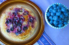 These delicious Paleo pancakes can be made with fresh or frozen blueberries.
