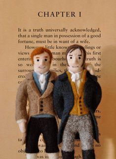 Mr. Bingley & Mr. Darcy Dolls, Jane Austen's Pride and Prejudice