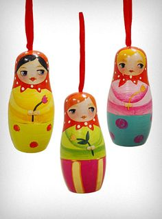 Russian Doll Box Ornament Set