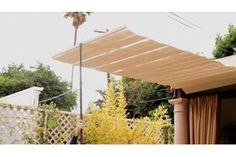 How to Make Your Own Patio Sunshade Awning for Cheap | eHow
