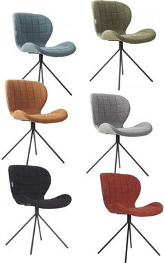 Chairs on my wishlist: Zuiver OMG chair: design & comfort. Unusual Furniture, New Furniture, Mid Century Modern Armchair, Dinner Room, Big Sofas, Take A Seat, Modern Chairs, Chair Design, Decoration