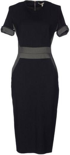 V.BEckham Knee Length Dress - Lyst                              …