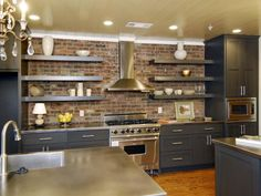Images of Beautifully-Organized Open Kitchen Shelving   DIY Kitchen Design Ideas - Kitchen Cabinets, Islands, Backsplashes   DIY
