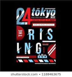 tokyo typography graphic design for kids and young men shirt