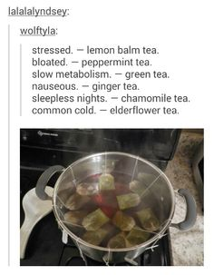 Tea for sickness