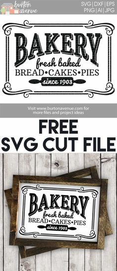 Free SVG files for Cricut & Silhouette | Kitchen Room SVG Files