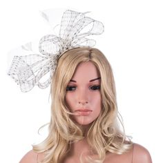 Womens Fascinator Netting Kentucky Derby Church Wedding Cocktail Party Hat A333